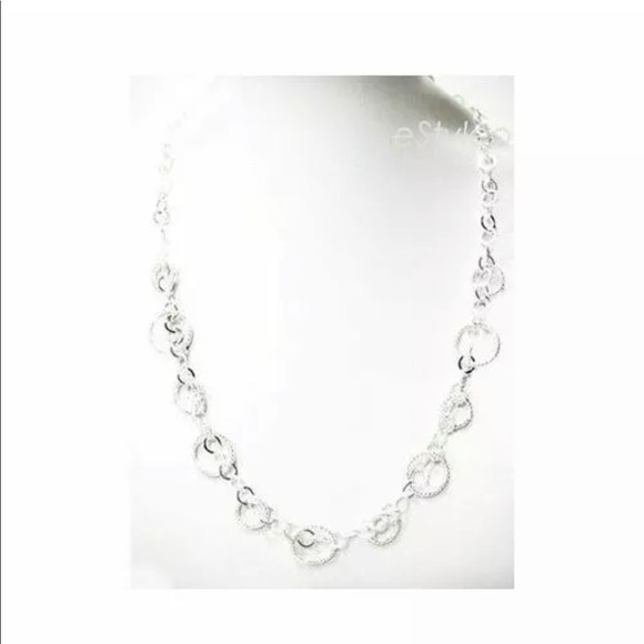 Macy's Jewelry - Macys Italian Sterling Silver Necklace Circle 16""